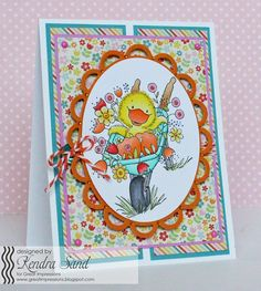 Luv 2 Scrap n' Cards, Kendra Sand, Great Impressions Stamps, Spring Card