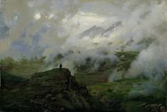 Giclee Print: Mount El'Brus, Russia, 1894 by Nikolai Aleksandrovich Yaroshenko : Russian Painting, Russian Art, Old Paintings, Landscape Paintings, Abstract Landscape, Landscapes, Mount Elbrus, Jerry Uelsmann, James Nachtwey