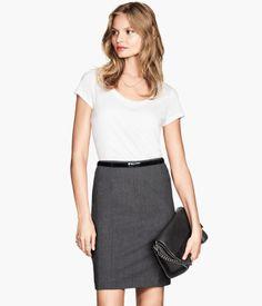 H&M Falda de tubo $349
