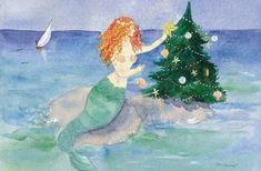 Key West Florida Christmas Card Company :: The Caswell Company Florida Purple Christmas Tree, Tropical Christmas, Beach Christmas, Coastal Christmas, Christmas Art, Greek Christmas, Christmas Tables, Beach Holiday, Holiday Fun