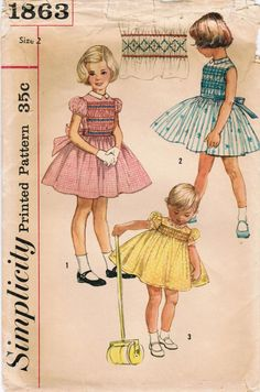 1950s Simplicity 1863 Vintage Sewing Pattern by midvalecottage