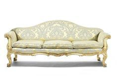 A 19th century carved giltwood sofa Fine English Furniture,