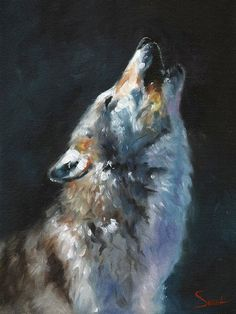 Life is just better with animals around! Light up your room and spirit with this fine art print of a howling wolf oil painting. I know I cant help