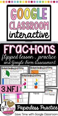 Learning fractions is a hard concept for students. This pin will help students better understand the content. 3rd Grade Fractions, Fourth Grade Math, Math Fractions, Learning Fractions, Math Classroom, Google Classroom, Classroom Ideas, Online Classroom, Math Tutor