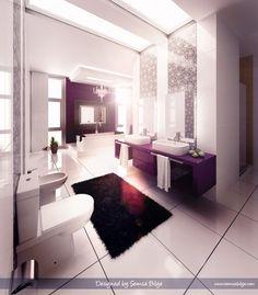 Bathroom design ideas, small bathroom ideas on a budget, small bathroom ideas uk, small bathroom ren. Lavender Bathroom, Purple Bathrooms, Bathroom Colors, White Bathroom, Small Bathroom, Girl Bathrooms, Silver Bathroom, Neutral Bathroom, Master Bathroom