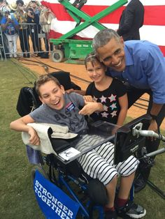 This Boy with Cerebral Palsy was Booed at a Trump Rally. Then, Obama Made His Dreams Come True.