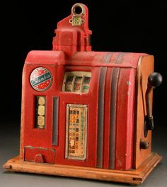 VINTAGE SLOT MACHINE TRADE STIMULATOR, CIRCA 1930S