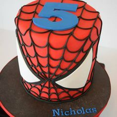Image result for spiderman birthday cake