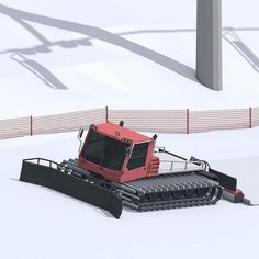 Snowcat grooming the slopes. Lowpoly style. #mywork #lowpoly #lowpolyart #cinema4d #3d #illustration #render #art #cgi #c4d #snowcat #grooming #slopes #snow #winter #plow by alexeygzarubin
