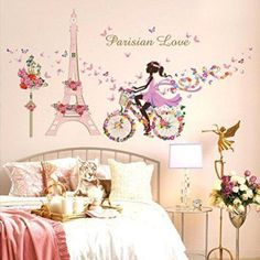 Wall Sticker, Hatop Wall Stickers Romance Decoration Wall Poster Home Decor Paris home décor is cute, trendy and adorable.  In fact, it is perfect for anyone who has or wants to visit Pairs.  Paris themed home décor is really trendy and popular all over the world.  For this reason, I really love Paris wall art, Eiffel Tower bedding not to mention other cute Parisian decorative accents.  Any room of your home living room, bedroom, kitchen, and even bathrooms can look charming, unique and…