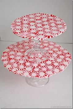 Tiered Peppermint Serving Tray