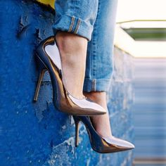 Shoespie Gun Metal Pointed Toe Stiletto Heels