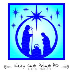 Nativity Glass Block Christ CHRISTMAS Cutting от EasyCutPrintPD