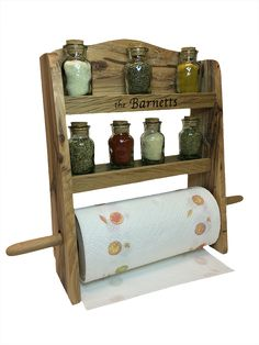 paper towel holder shelf wall solid wood unfinished with crown