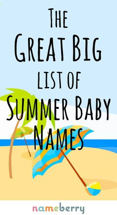 Bright, bold names for a summer baby — from August to Thalassa! We've looked beyond the most obvious summer inspired baby names to bring you this list Baby Girl Names Elegant, Cute Baby Girl Names, Strong Baby Names, Modern Baby Names, Rare Baby Names, Twin Baby Girls, Unique Baby Names, Baby Baby, Baby Sleep