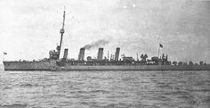 British Flotilla Leader HMS Fearless. Fearless led the 1st Destroyer Flotilla at the Battle of Jutland on 31st May 1916