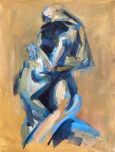 Sexy Painting, Painting & Drawing, Painting Love Couple, Painting Inspiration, Art Inspo, Wow Art, Portrait Art, Erotic Art, Art Reference