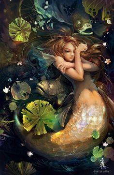 Very pretty art of a mermaid