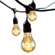OD String Lights Nostalgic Bulbs -  equipped with 15 outdoor-friendly sockets and bulbs. Since the piece can connect to up to four other strings, it can easily illuminate your entire backyard.