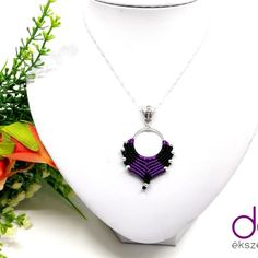Nina nyaklánc – lila | DombiAnita Ékszerek Macrame Jewelry, Pendant Necklace, Fashion, Lilac, Moda, Fashion Styles, Fasion, Drop Necklace