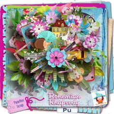 le Digiscrap de Kastagnette - kit Bohemian Rapsody - love it ! (april 2014) and look at the papers they are amazing ! (3 gifts there also ;) )