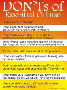 Young Living Essential Oils - Don'ts of Essential Oil Use. Are you interested in learning more about Young Living Essential Oils? Do you want to join me and become a Lemon Dropper? Doterra Essential Oils, Natural Essential Oils, Essential Oil Diffuser, Essential Oil Blends, Yl Oils, Natural Oils, Frankincense Essential Oil Uses, Essential Oils For Headaches, Lemongrass Essential Oil