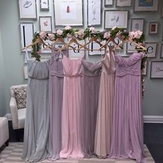 Mix and match muted bridesmaid dresses from Les Trois Soeurs bridal - Mix and match muted bridesmaid dresses from Les Trois Soeurs bridal - Dessy Bridesmaid Dresses, Wedding Bridesmaids, Wedding Dresses, Mauve Wedding, Wedding Table Centerpieces, Marie, Bridal, Muslim, Wedding Ideas