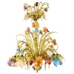 Iris Murano Glass Chandelier - Shop timeless lighting handcrafted in Italy: chandeliers, pendant lamps, table lamps and appliques - Home Décor and Interior Design ideas from Italy's finest artisans - Artemest
