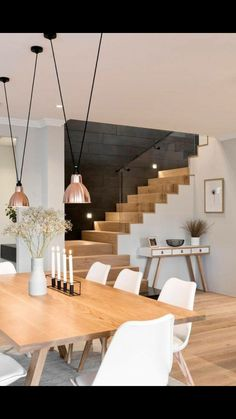 Modern dining room Wooden table