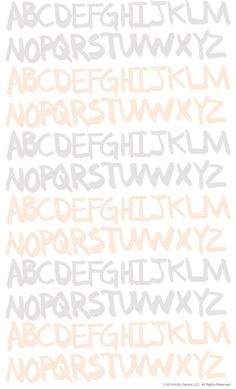 ashley g alphabet pattern