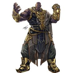 Thanos, Death's Lover Neutral Evil, Monk way of the long death Dungeons and Dragons X Avengers fan concept art Dark Fantasy, Medieval Fantasy, Fantasy Art, Illustration Fantasy, Another Period, Comic Pictures, Comic Pics, Marvel Vs, Mundo Marvel