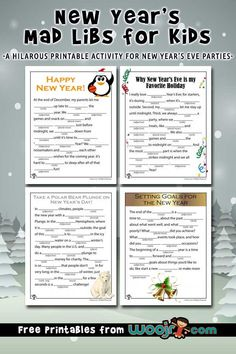 New Years Mad Libs Printable Games   Woo! Jr. Kids Activities
