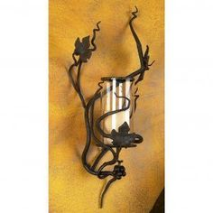 Wrought Iron Wall Sconces Flowers #LedOutdoorWallSconce #StainedGlassWallSconce #SilverWallSconces