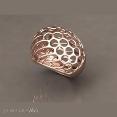 3D Jewelry Design: Golden Acorn Cocktail Ring, Christmas, Modern, Organic style [3090-107770] » Jewelrythis