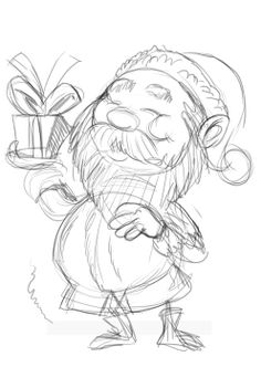 Sketch of Santa.