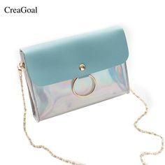 4c0e937ca1 2018 Fashion Pvc Small Flap Women Crossbody Bag Chain Messenger Shoulder Bag  Lad  fashion