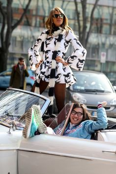 Pin for Later: Over 100 of Milan's Chicest Street Style Outfits Milan Fashion Week Street Style Anna Dello Russo and Phil Oh