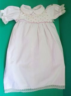 Coleco Cabbage Patch Doll Clothes White Gown Purple Floral Bodice With Lace Trim #ClothingAccessories