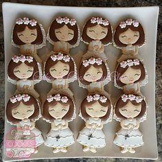 Girl First Communion Cookies Decorated Cookies, Galletas de Primera Comunion Nina