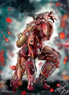 """steampunktendencies: """"Iron man steampunk by Silleras941 """""""