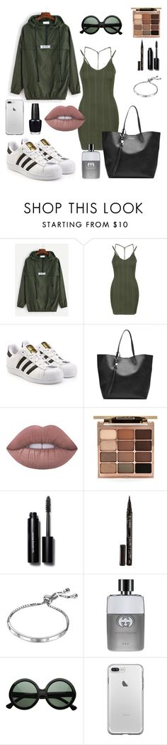 """""""Guilty as Charged 🌴"""" by breeyvonne ❤ liked on Polyvore featuring Topshop, adidas Originals, Alexander McQueen, Lime Crime, Stila, Bobbi Brown Cosmetics, Smith & Cult, Gucci and OPI"""