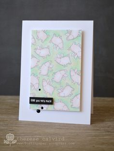 Lostinpaper - Close to my Heart Animal Greetings OINK card