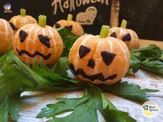 Zucchette di Halloween - ricetta con frutta per bambini