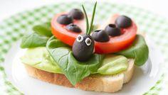 Ein Toast, der Glück bringt #healthy #snack #foodie #kids #ladybeetle #tomato…