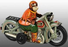I.Y. Metal Toys Tin-Motorcycles Harley Davidson of tin with friction