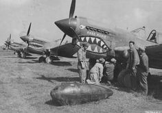 "Curtiss P-40E, ""Rose Marie"" 16th Fighter Squadron, 51st Fighter Group, China, 21.10.1942"