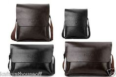 LATEST DESIGN MEN POLO VIDENG GLOSSY MESSENGER BAG LEISURE BAG SOFT FAUX LEATHER