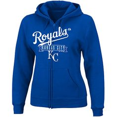Kansas City Royals Women's Enjoy the Moment Full-Zip Hooded Fleece by Majestic Athletic