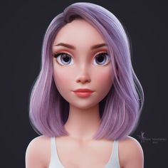 Blender Hair Tutorial by Tangens Fantasy Character, 3d Model Character, Character Modeling, Character Art, Character Design, Character Concept, Blender Hair, Blender 3d, Level Design