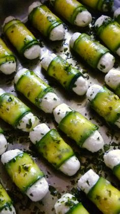 goat cheese and zucchini tapas chèvre courgette